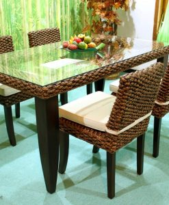 Caspian Wicker Dining Set