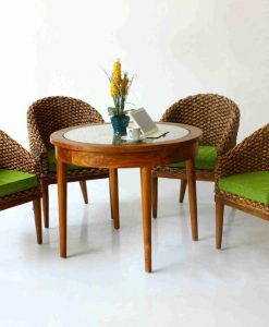 Alberta Wicker Dining Set