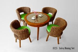 Leiva Wicker Dining Set