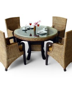 Tiffany Rattan Dining Set