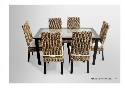 Flora Wicker Dining Set