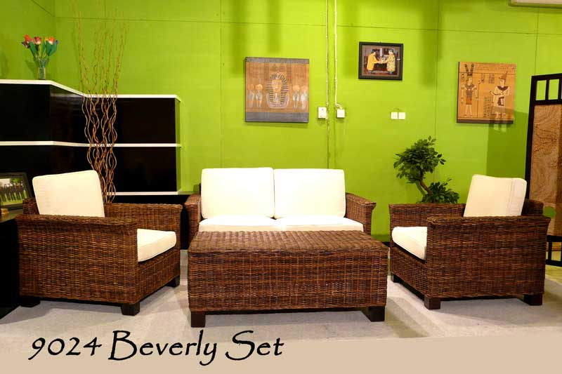 Beverly Rattan Living Set