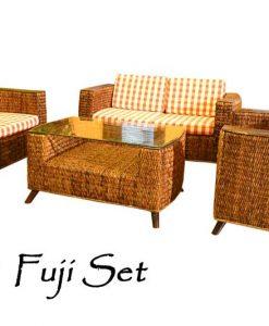 Fuji Wicker Woven Living Set