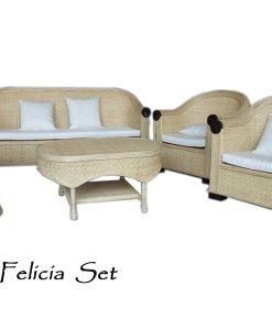 Felicia Rattan Living Set
