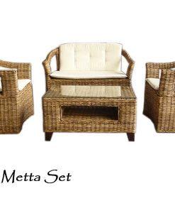 Metta Rattan Living Set