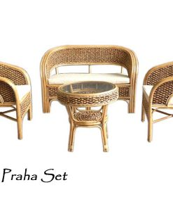 Praha Rattan Living Set