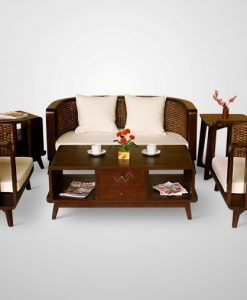 Beleza Wicker Living Set