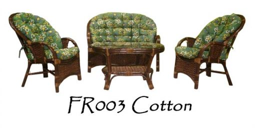 Cotton Rattan Living Set