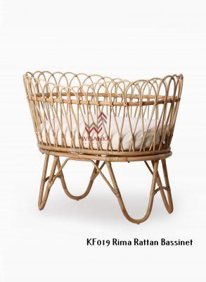 Rima Rattan Baby Bassinet