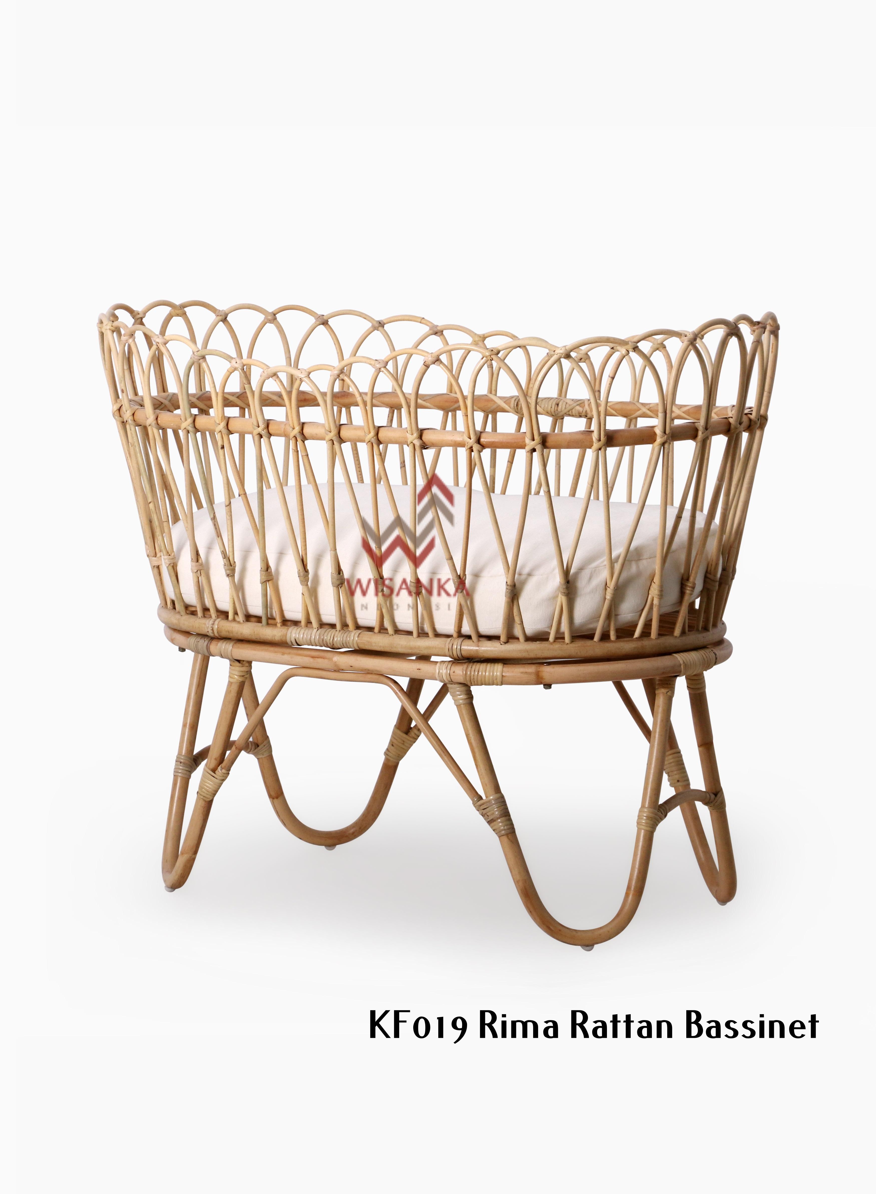 Rima Rattan Bassinet Natural Rattan Furniture Wholesale