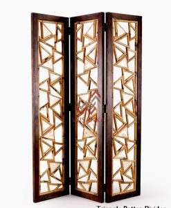 Triangle Rattan Divider with wooden frame