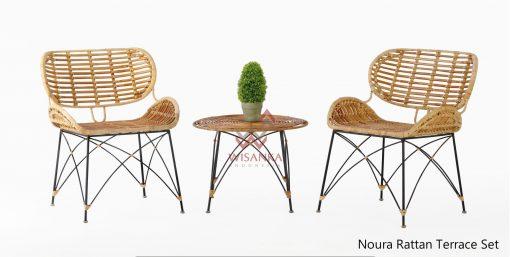 Noura Rattan Terrace Set