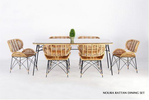 Noura Rattan Dining Set