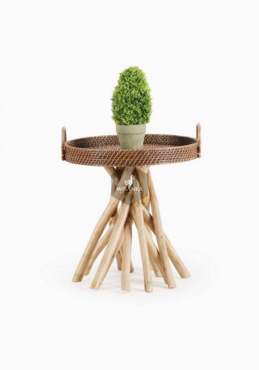 Barito Rattan Side Table