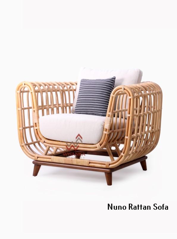 Nuno Rattan Single Sofa Natural