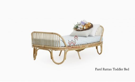 Farel Rattan Toddler Bed