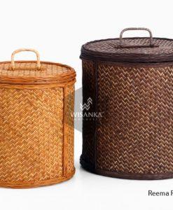 Reema Rattan Round Basket