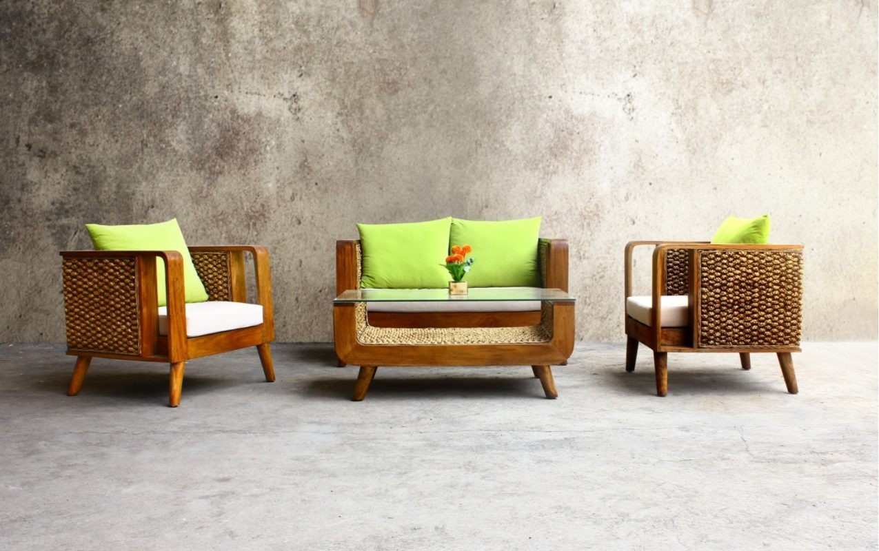 Venezia Wicker Living Set