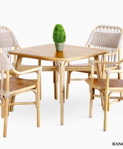 Rancangan Rattan Dining Set