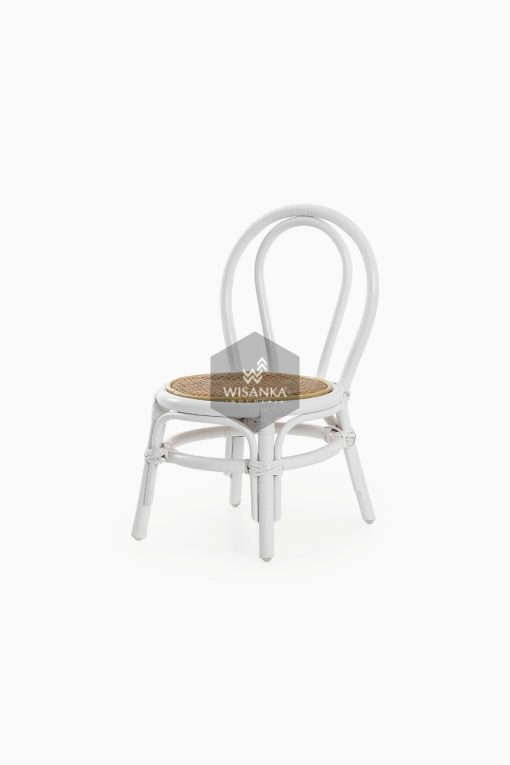 Kala Rattan Kids Chair in White