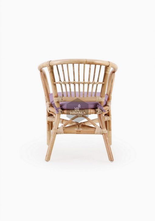 Jimmy Chair Natural with cushion Tampak Belakang