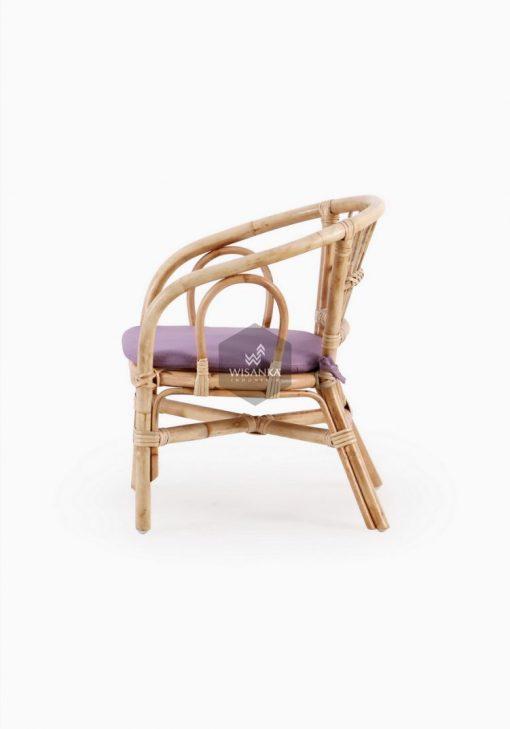 Jimmy Chair Natural with cushion Tampak Samping