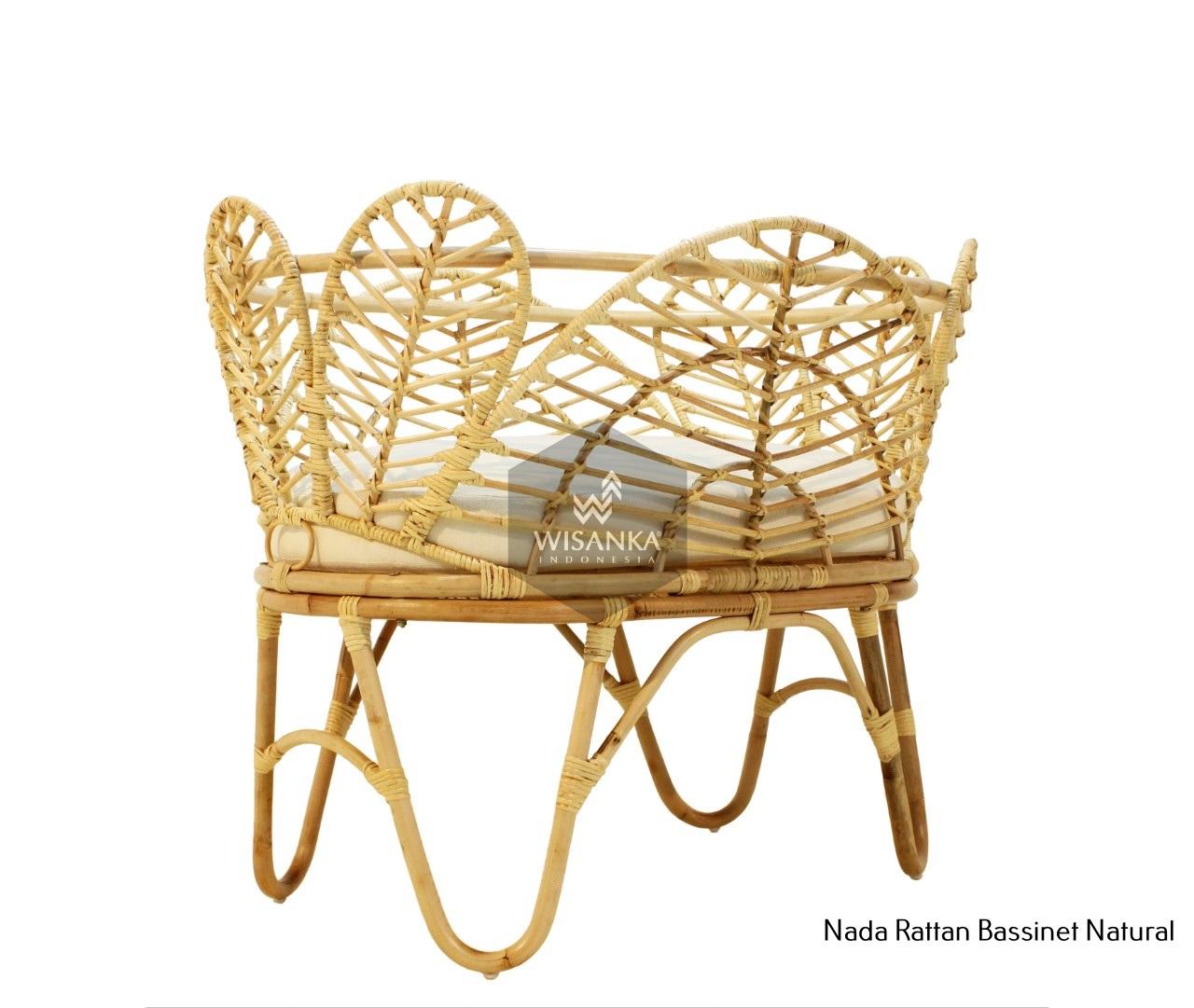 Nada Rattan Baby Crib Natural