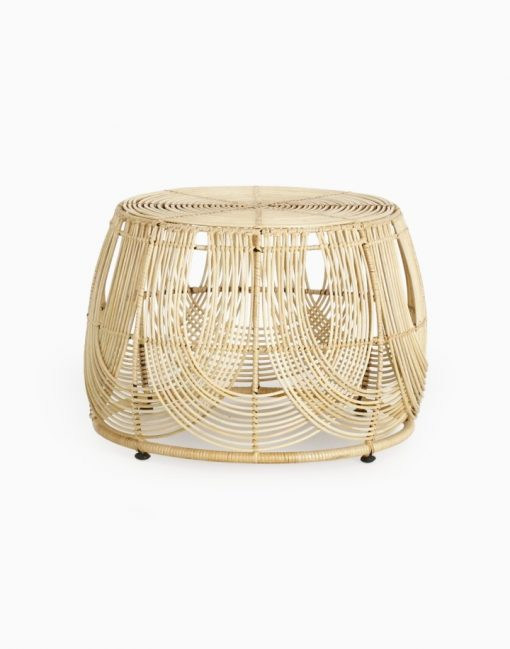 Somerset Round Rattan Table Natural