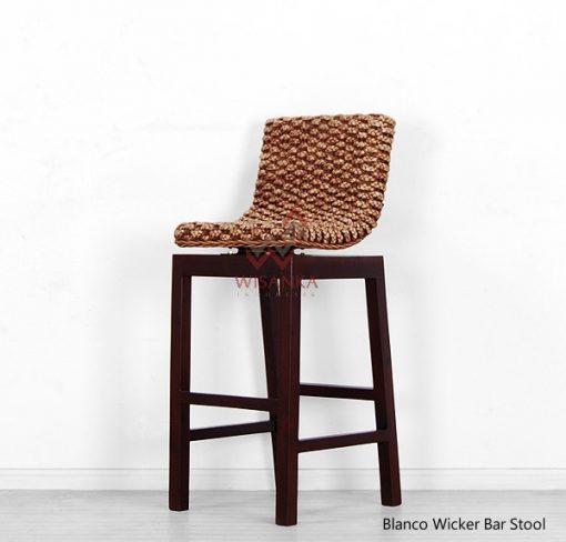 Blanco Wicker Bar Chair