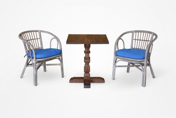 Bold Rattan CHair and Jordy Table