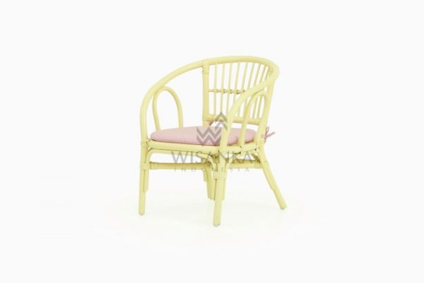 Jimmy Kids Rattan Chair Yellow
