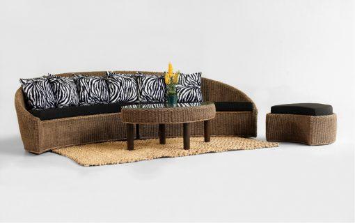 Lunar Wicker Sofa Set