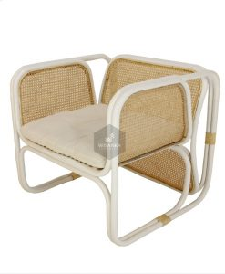 Fanie Rattan Chair White