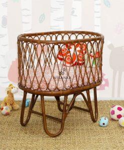 Ovalia Rattan Baby Crib