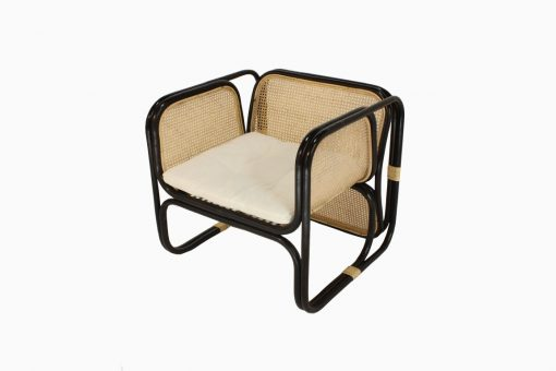 Fanie Rattan Chair Black